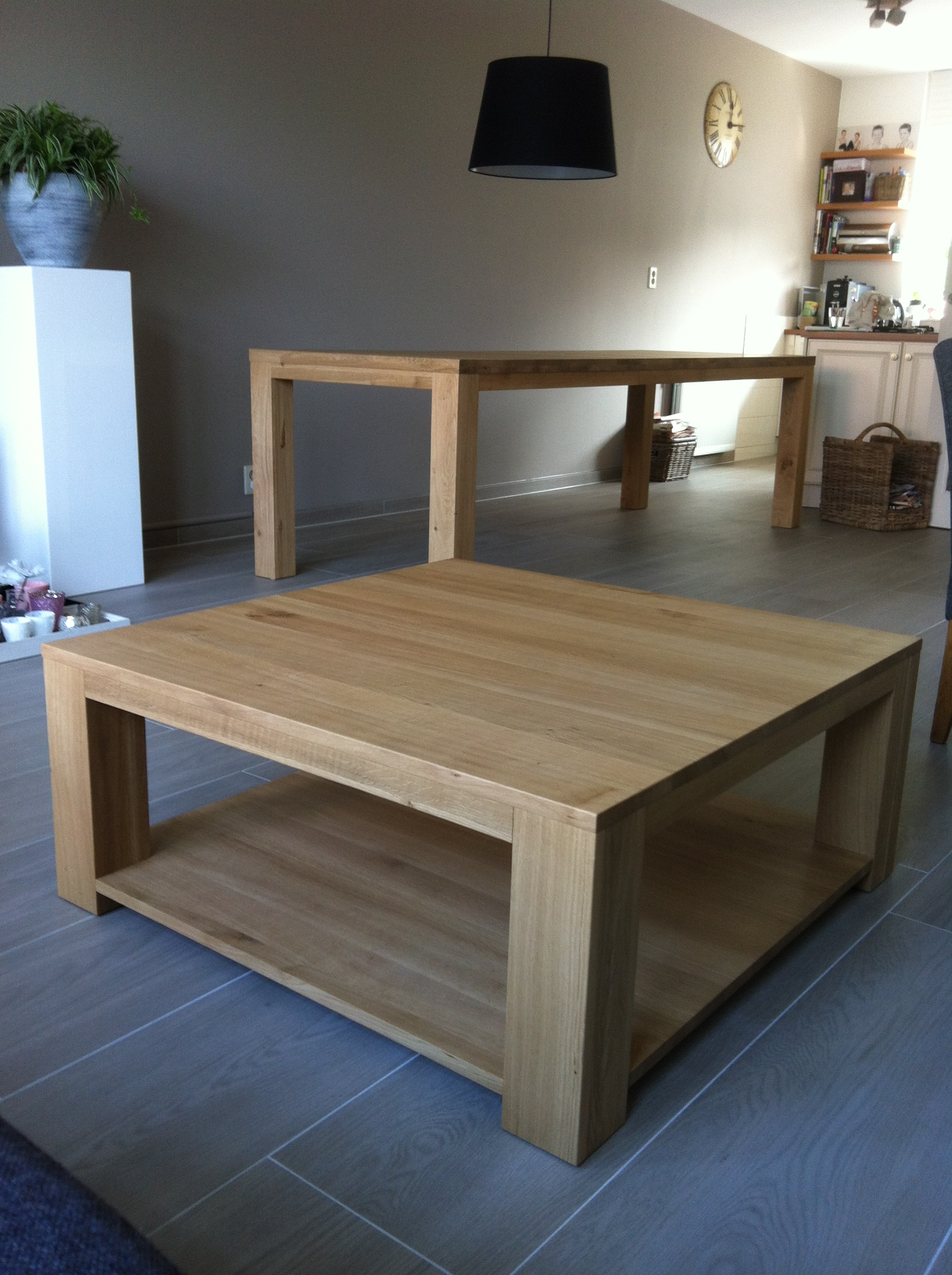 Overige tafels de eiken tafel nl for Salontafel vierkant