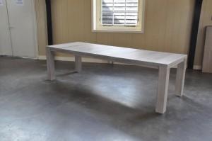 eiken tafel Stretch uitschuifbaar wit