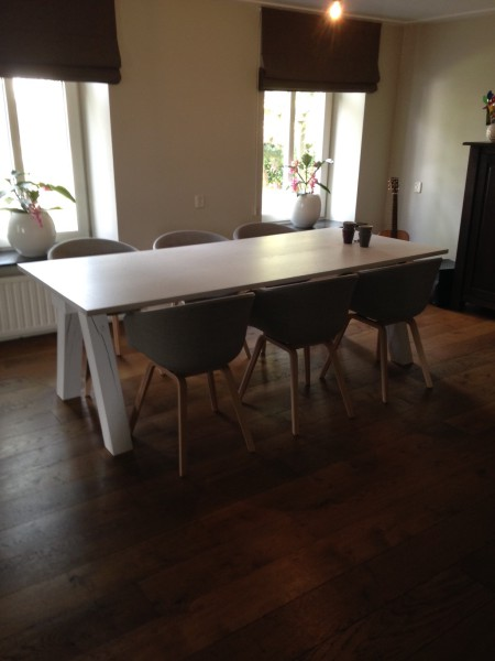 witte eiken tafel model BALK