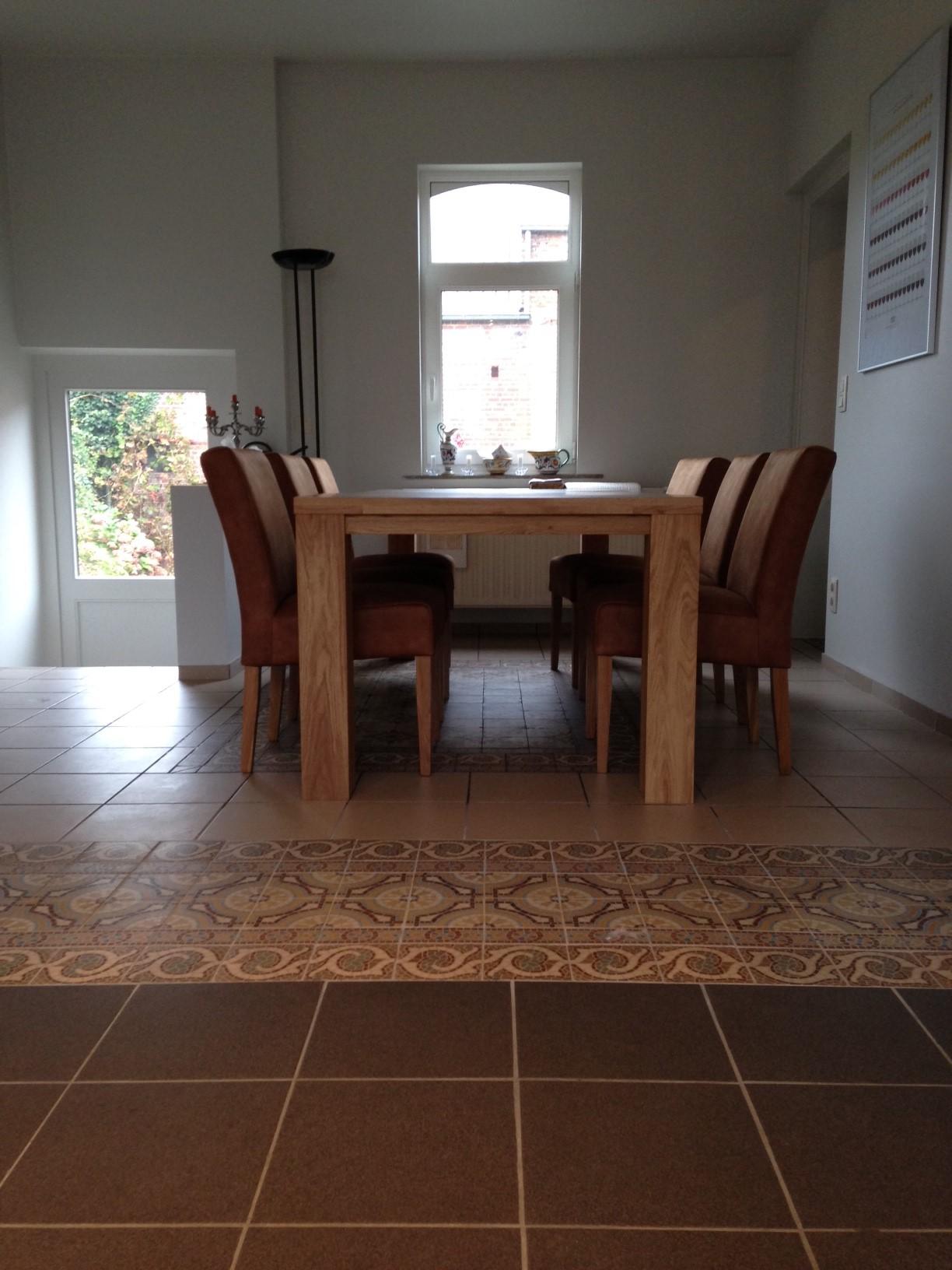 Kookeiland uitschuifbare tafel for Eiken tafel