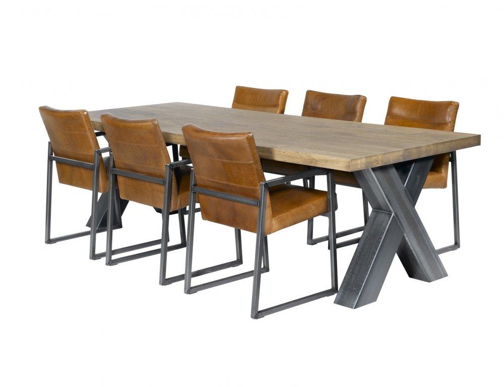 Keukentafel Met Stoelen : Industri?le tafel ?CROSS? is in een aantal standaardmaten