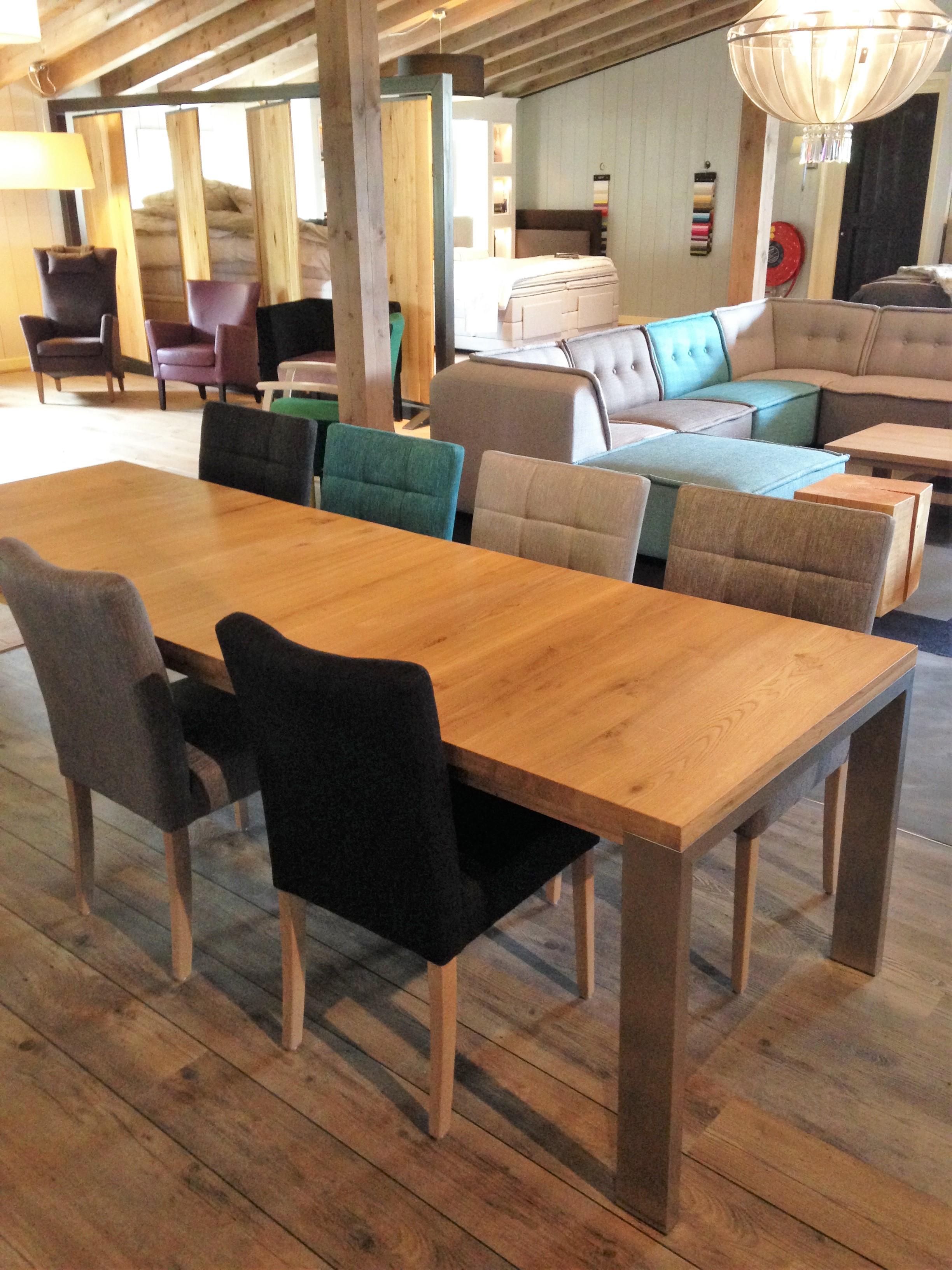 Uitschuifbare tafel 39 stretch rvs 39 de eiken tafel nl for Eiken tafel