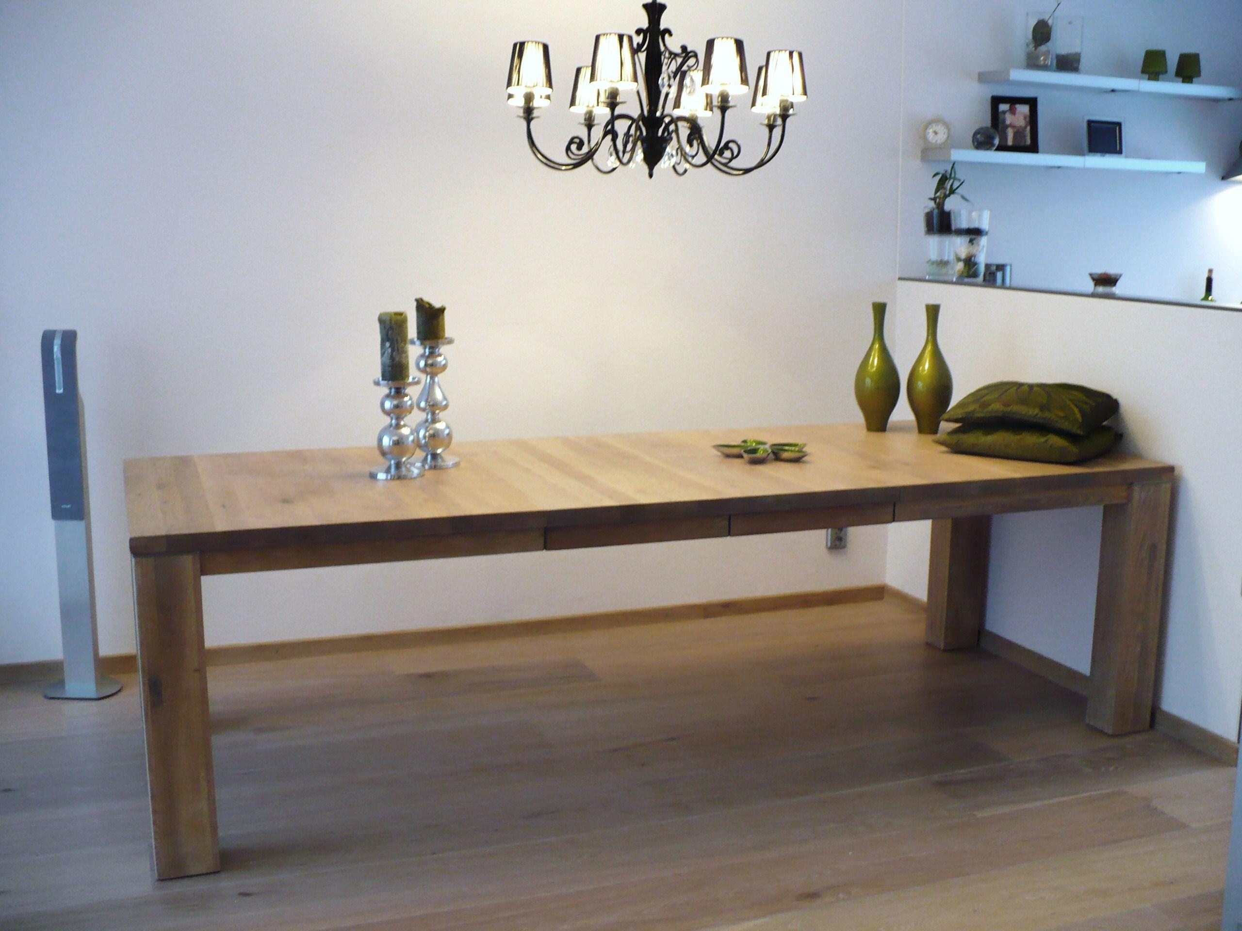 Eikenhouten Uitschuifbare Eettafel.Model Stretch