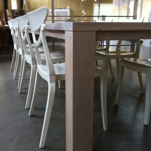 uitschuiftafel STRETCH in lak extra wit, review uitschuifbare eiken tafel STRETCH, eiken tafel afwerking extra wit gelakt