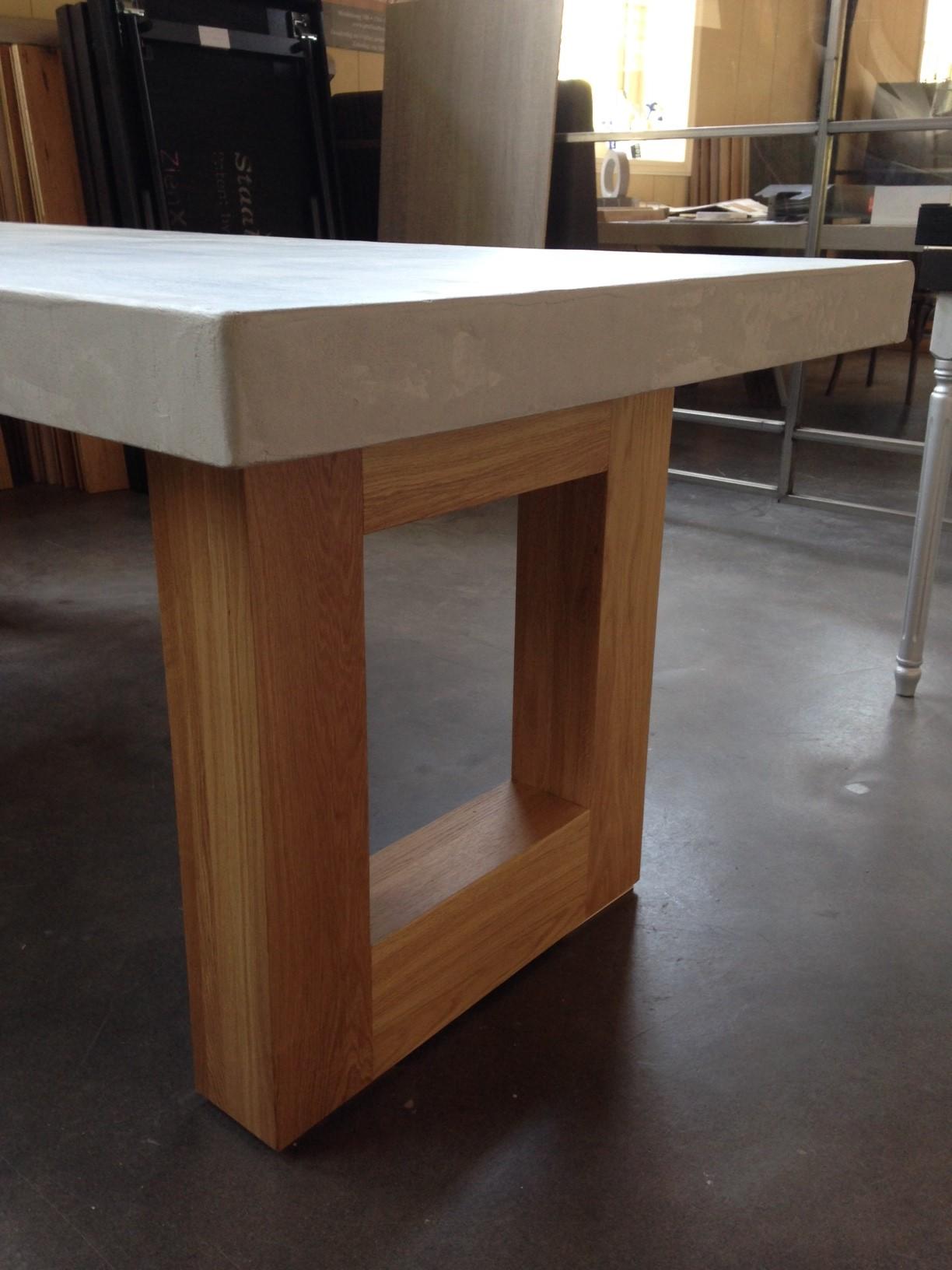 Eettafel Eiken Look.Model Concrete De Eiken Tafel Nl