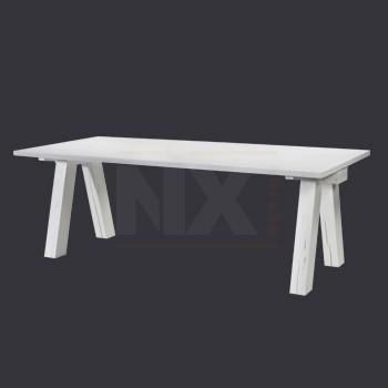 landelijke tafel wit