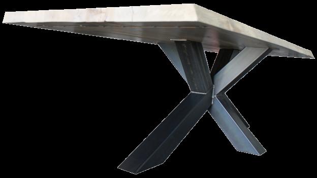Industriele Tafel Poten : Industriële tafel atlas de houten tafel