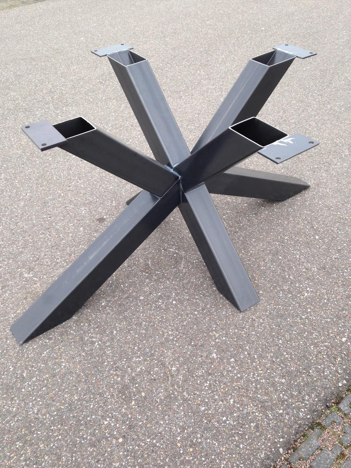 Populair Stalen kruispoot MATRIX - DE-EIKEN-TAFEL.NL FX35