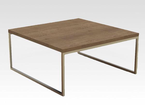 stalen onderstel salontafel ALBER met eiken blad
