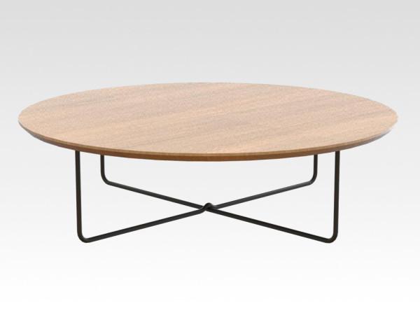 los stalen salontafel onderstel model SAAS met eiken blad