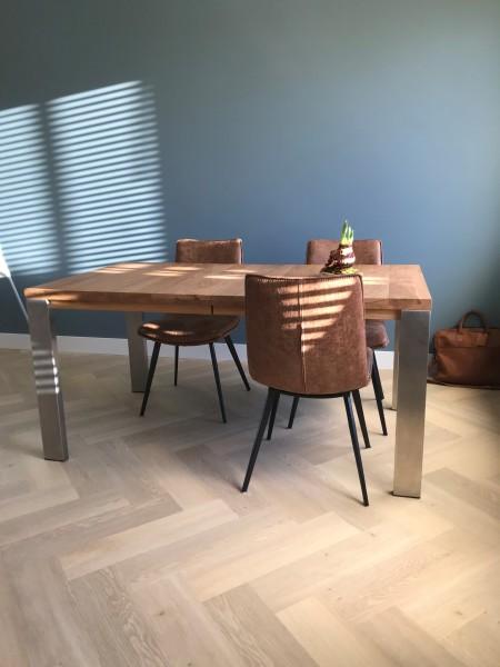verlengbare tafel RVS