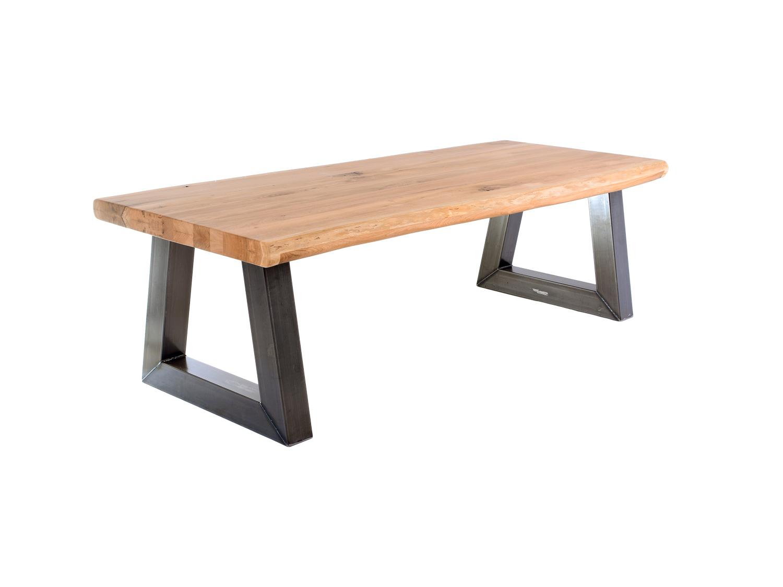 Industriële tafel atlas de eiken tafel