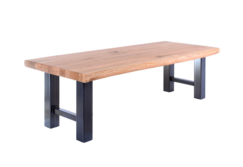 Tafel Stalen Poten : Stalen h poten hera de eiken tafel
